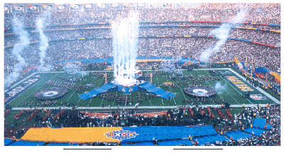 best stadium fireworks, world cup fireworks, super bowl fireworks, biggest homecoming fireworks