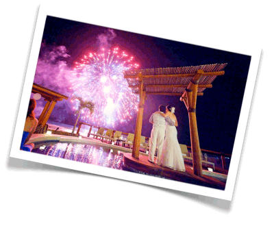 incredible wedding receptions, fireworks for weddings, celebrity weddings, fireworks for brides