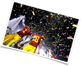 championship celebrations, pyrotechnics for stadiums, confetti for parades, best championship ceremonies