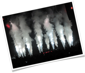Pyro Spectaculars by Souza can also create stunning cryogenic effects for your event.