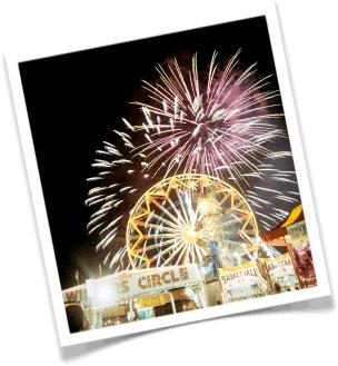 fireworks at night, world's biggest fireworks, planning a fireworks show, bright nighttime fireworks, fair fireworks, fireworks at amusement park