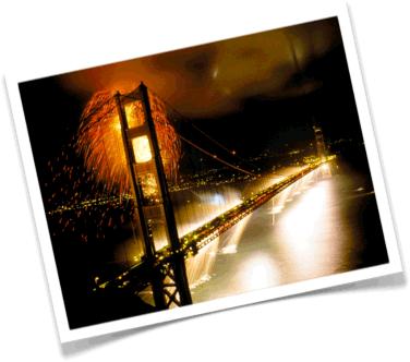 San Francisco fireworks, California fireworks, Golden Gate Bridge fireworks, fireworks for anniversaries