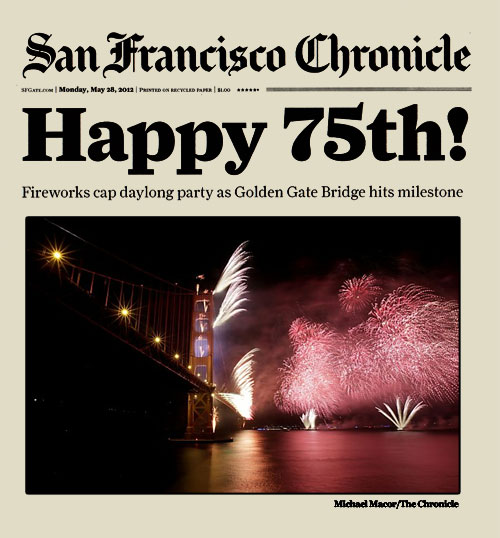 Front Page of the SF Chronicle on May 28, 2012 – http://sfgate.com