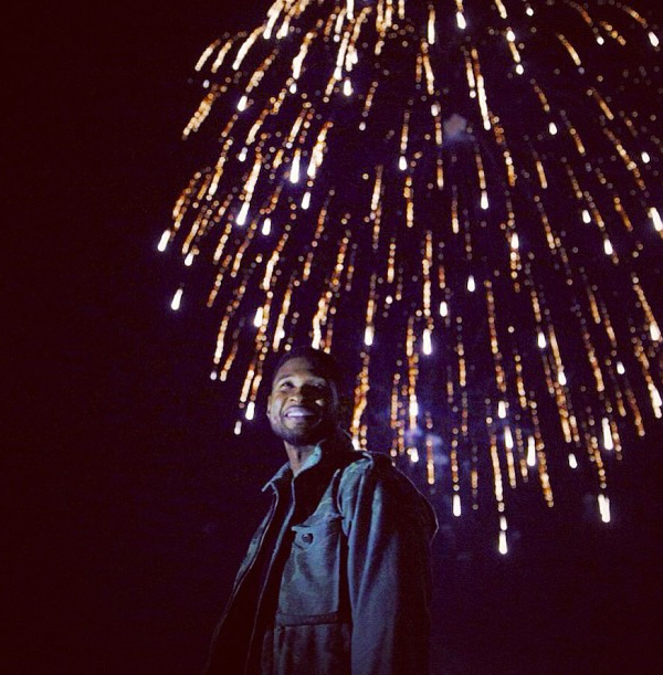 Usher testing fireworks with Pyro Spectaculars by Souza for the Macy's Fourth of July Fireworks