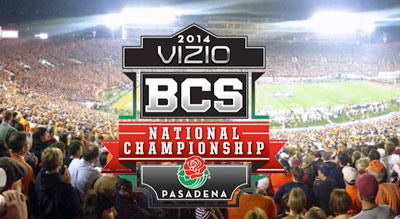 Fireworks and Special Effects for the 2014 BCS Championship Game at Rose Bowl Stadium