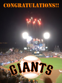 Congratulations to the 2014 World Champion SF Giants!!