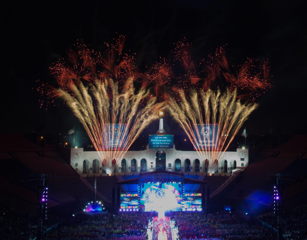Spectacular View of the 2015 Special Olympics Opening Ceremony