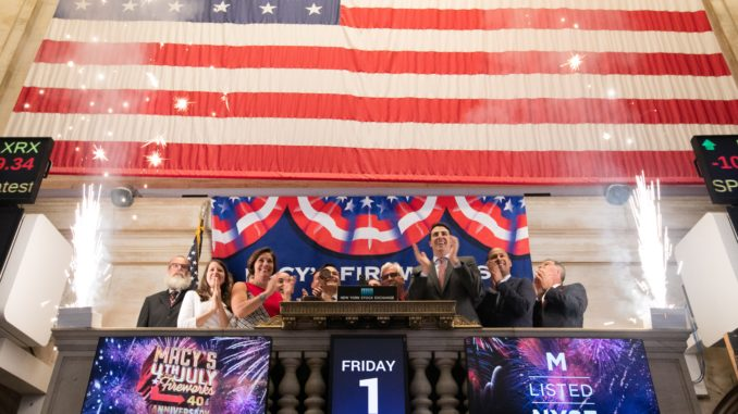 Pyro Spectaculars and Macy's at the NYSE