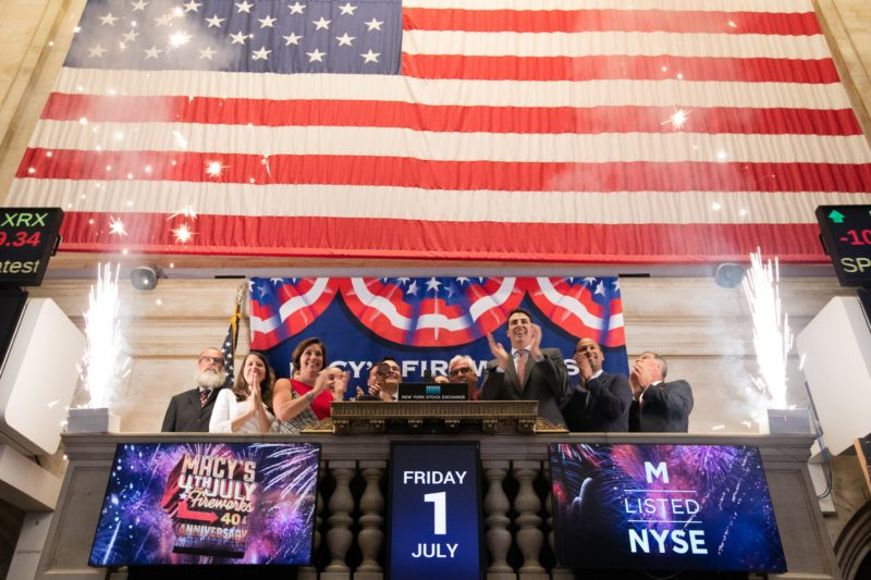 Pyro Spectaculars & Macy's at the NYSE