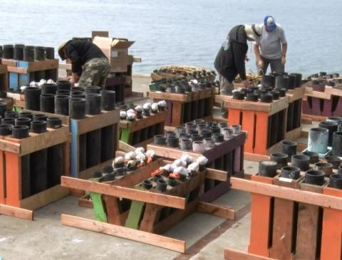 Humboldt Bay Fire Marshal inspects fireworks barge