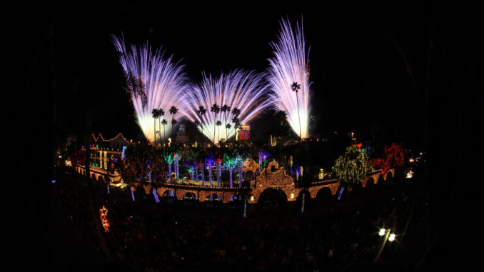 Fireworks for The Festival of Lights switch-on ceremoy