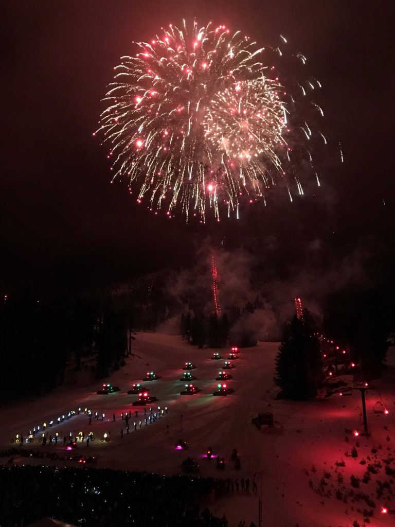 Fireworks over the slopes