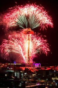 New Years Fireworks from the Space Needle