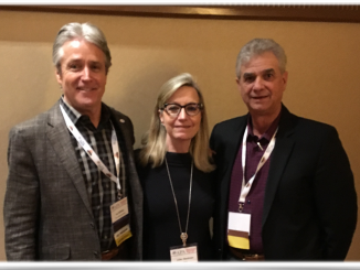 American Pyrotechnics Association President Ian Gilfillan, Executive Director Julie Heckman, Past President Jim Souza