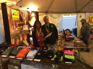 Margo and Mike at the Pyro booth during Winterblast 2017