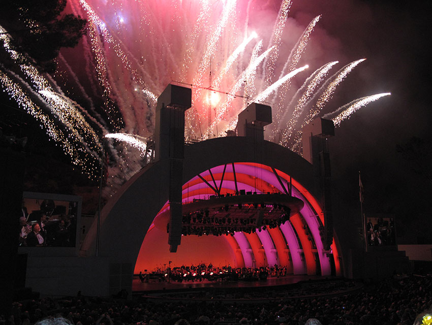Fireworks Finale at Hollywood Bowl PHOTOGRAPH COURTESY FLICKR/MARGARETNAPIER