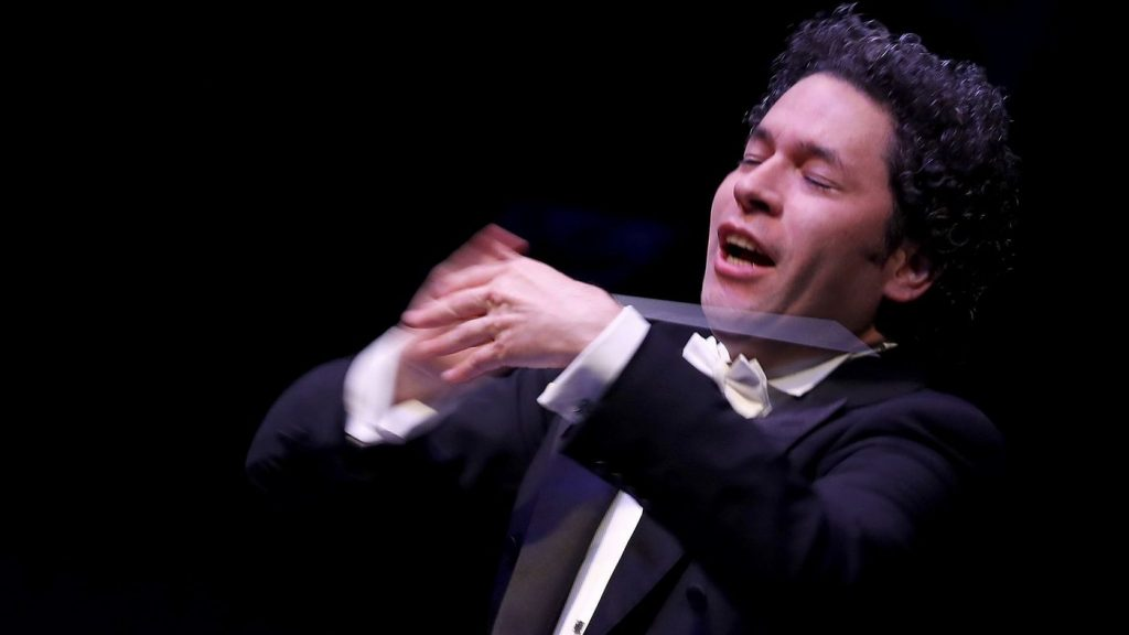 "Gustavo Dudamel and the L.A. Phil kick off ithe symphony's centennial season with a ""California Soul"" gala at the Walt Disney Concert Hall in downtown Los Angeles on Thursday, Sept. 28, 2018. (Luis Sinco / Los Angeles Times)"
