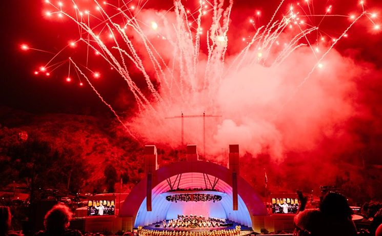 Pyro Spectaculars at the kickoff celebration of the Los Angeles Philharmonic Orchestra's 100th Season