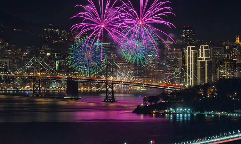 Fireworks dazzle San Francisco sky on New Year's Eve