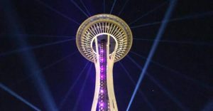 Seattle Space Needle Light show