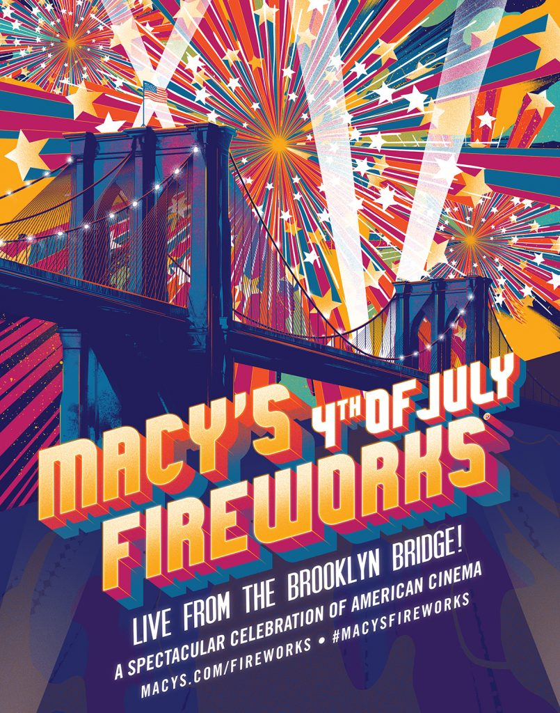 Lights, Camera, Fireworks! The 43rd Annual Macy's 4th of July Fireworks, the nation's largest Independence Day celebration, ignites the New York City skyline live from the Brooklyn Bridge, Thursday, July 4th.