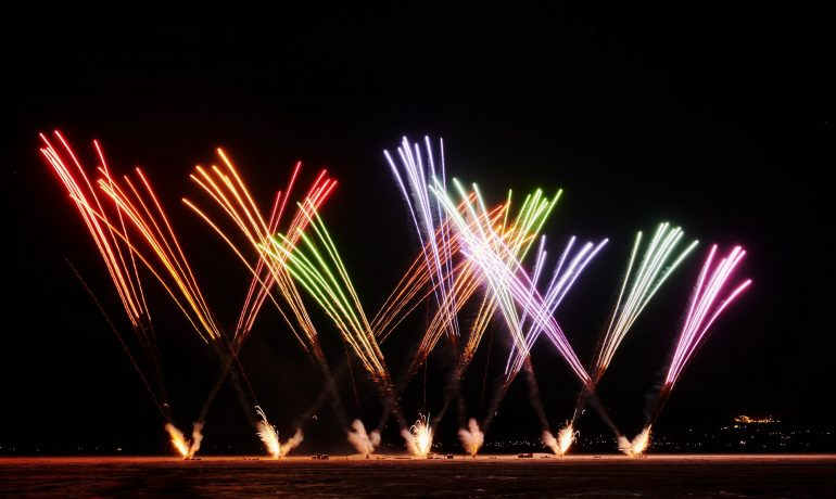 The Crazy Planning for the Macy's Fireworks Show Begins in the California Desert