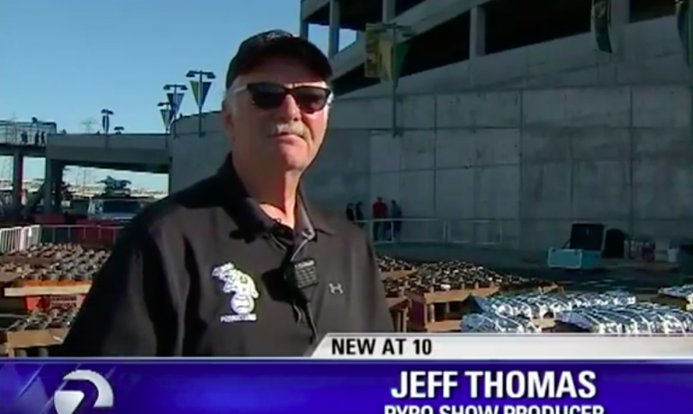 Out with a bang: Pyro Jeff Thomas produces his final fireworks show