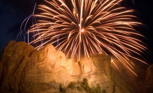 A past fireworks display at Mount Rushmore. CREDIT SOUTH DAKOTA TOURISM