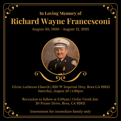 Richard Francesconi Memorial